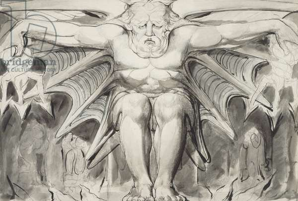 A Destroying Deity, c.1820-25 (pen, ink, w/c washes & graphite on wove paper)