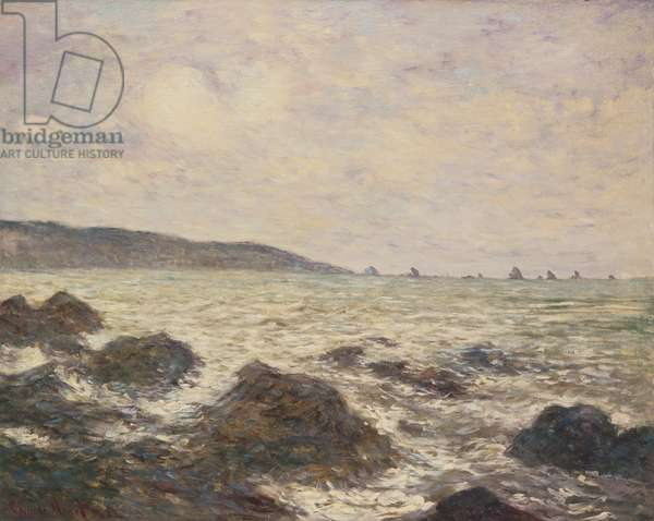 Coast of Normandy, 19th century (oil on canvas)