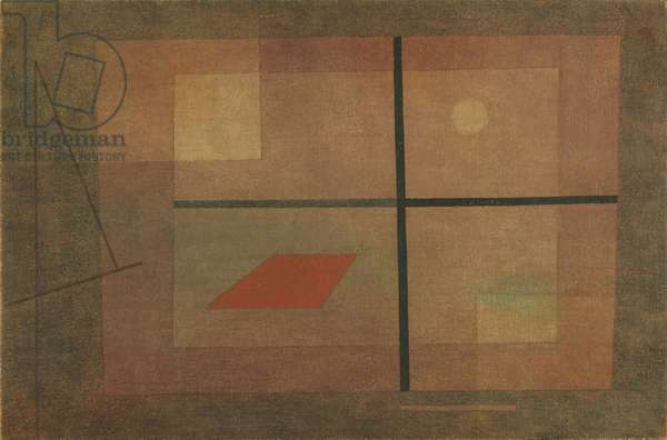 But the Red Roof, 1935 (glue tempera on fabric)
