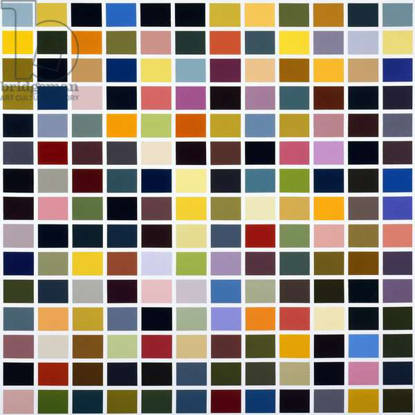 180 Färben (180 Colors), 1971 (enamel paint on canvas)