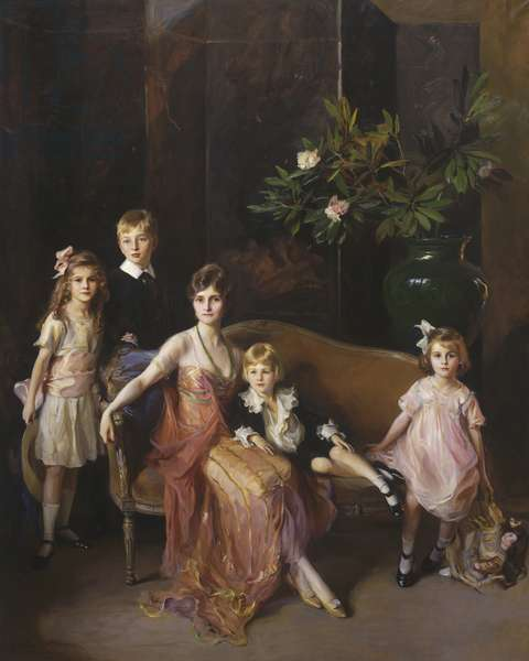 Portrait of Mrs Francis P. Garvan and her Four Children, 1921 (oil on canvas)