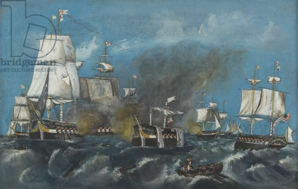 The Battle of Lake Erie, c.1840 (oil on panel)