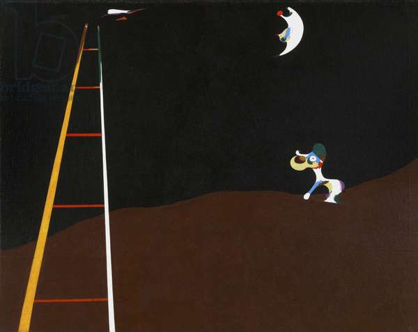 Dog Barking at the Moon, 1926 (oil on canvas)