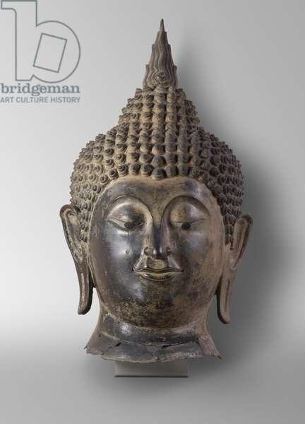Head of Buddha, 15th century (bronze)