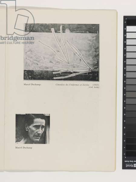 Page from the Catalogue of the exhibition First Papers of Surrealism, 1942 (litho)