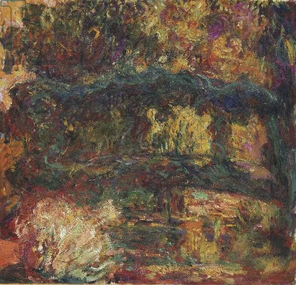 Nympheas, Japanese Bridge, 1918-26 (oil on canvas)