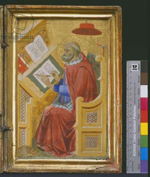 Detail of Saint Jerome Translating the Gospel of John, c.1400-05 (tempera, silver & tooled gold on panel)
