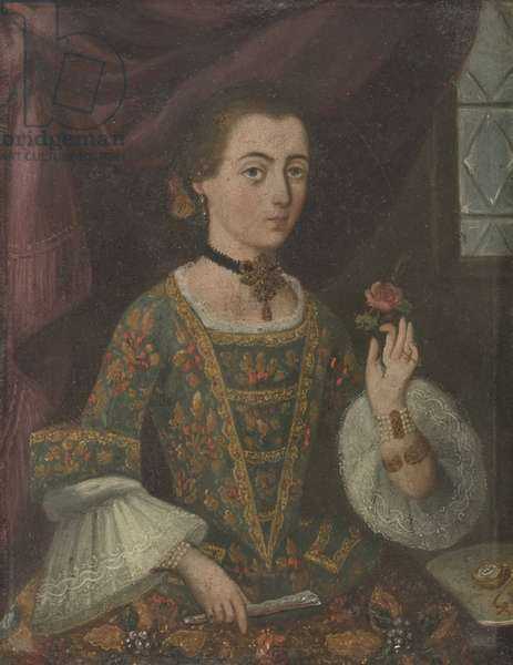 Portrait of a lady (oil on copper)