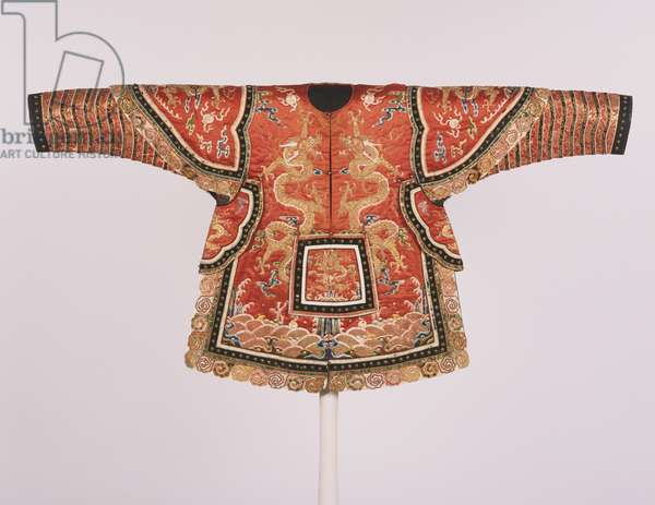Imperial Theatrical Armour for a General, Guangxu Period, Qing Dynasty (silk with silk satin weave, glass & stones)