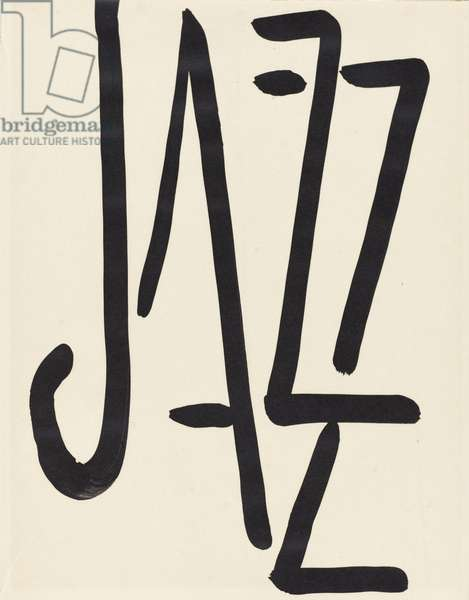 Title page to 'Jazz', 1947 (gouache on paper)