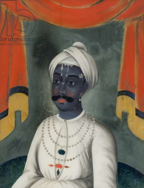 Portrait of a Maharajah (reverse painting on glass)