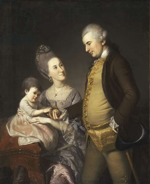 Portrait of John and Elizabeth Lloyd Cadwalader and Their Daughter Anne, 1772 (oil on canvas)