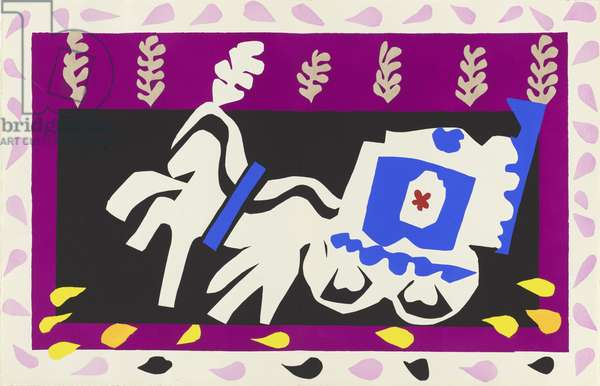 Burial of Pierrot, illustration from the portfolio 'Jazz', 1947 (colour stencil print)
