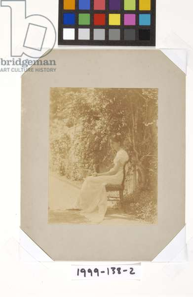 Caroline Eakins Seated in Yard, c.1882 (albumen silver print)