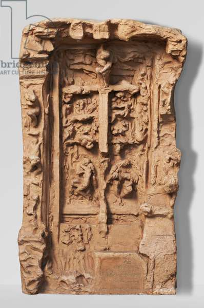 """Third Architectural Model for """"The Gates of Hell"""", modeled c.1881-82, cast 1926 (terracotta)"""