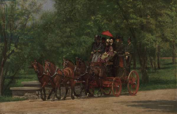 A May Morning in the Park (The Fairman Rogers Four-in-Hand), 1879-80 (oil on canvas)