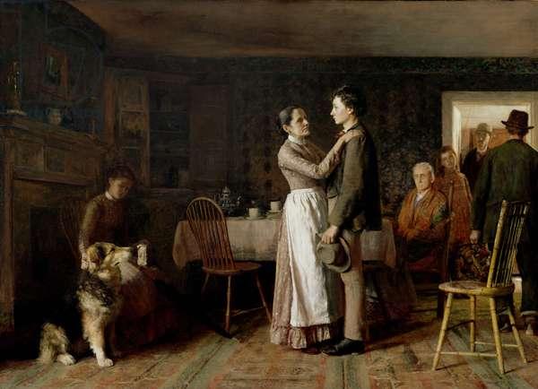 Breaking Home Ties, 1890 (oil on canvas)