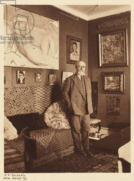Portrait of Henri Matisse, Nice, 1932 (gelatin silver print)