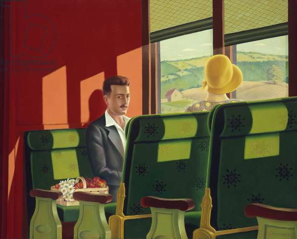 Poor Man's Pullman, 1930 (oil on canvas)