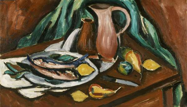 Still Life with Fish, 1921 (oil on canvas)