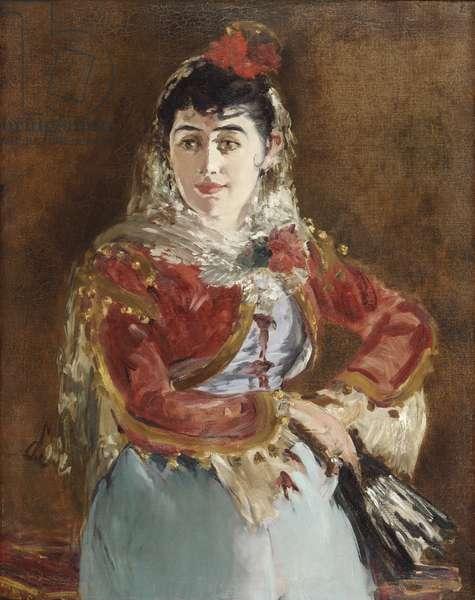 Portrait of Emilie Ambre as Carmen, 1880 (oil on canvas)