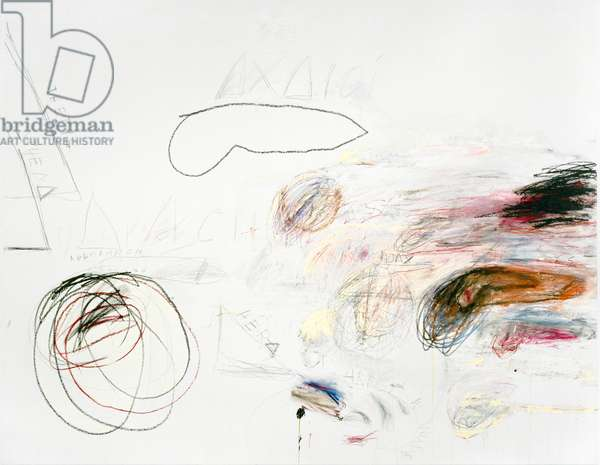 Fifty Days at Iliam: Achaeans in Battle, 1978 (oil, oil crayon & graphite on canvas)