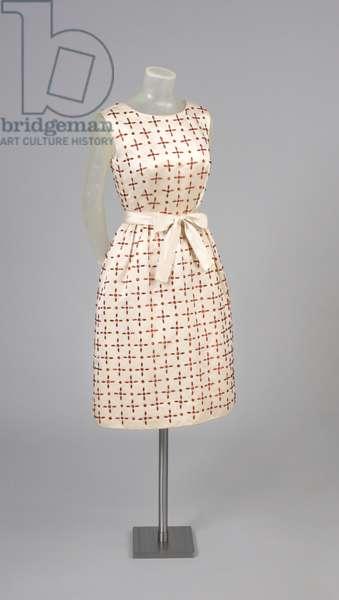 Late Afternoon Dress, Fall 1965 (silk satin, glass brilliants)