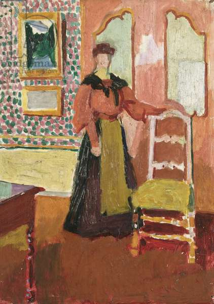 Helen by a Chair, 1904 (oil on panel)