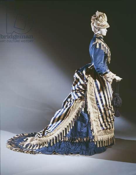 Reception dress, c.1874 (silk & satin)