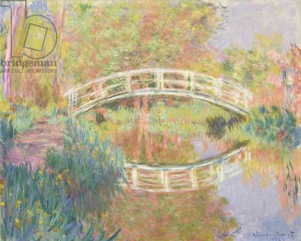 Japanese Footbridge, Giverny, 1895 (oil on canvas)