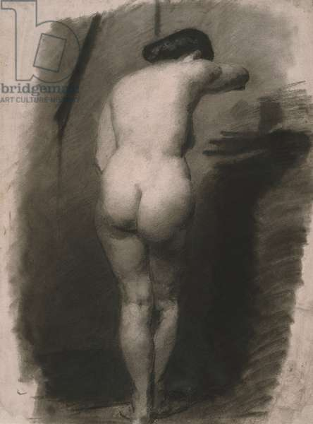 Study of a Standing Nude Woman, 1863-66 (charcoal on paper)