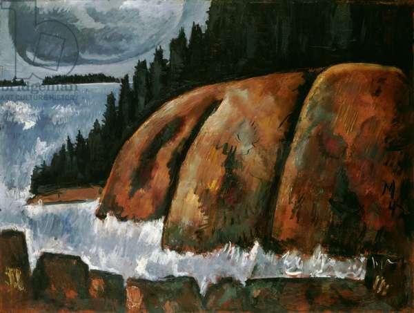 Hurricane Island, 1942 (oil on masonite)