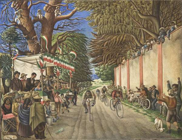Bicycle Race, 1938 (oil on canvas)
