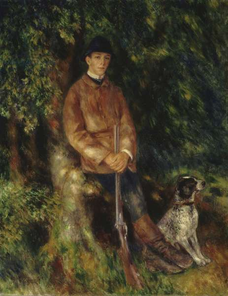 Portrait of Alfred Berard with his Dog, 1881 (oil on canvas)