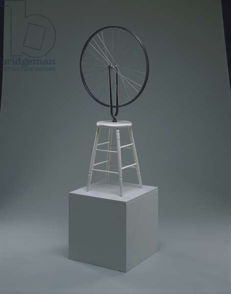 Bicycle Wheel, 1964 (wheel & painted wood)
