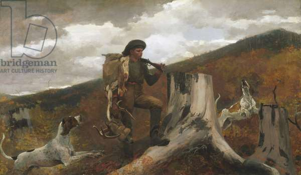 A Huntsman and Dogs, 1891 (oil on canvas)