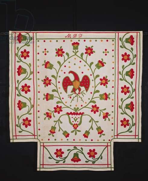 Bedcover, Pennsylvania German, 1875-1900 (cotton)