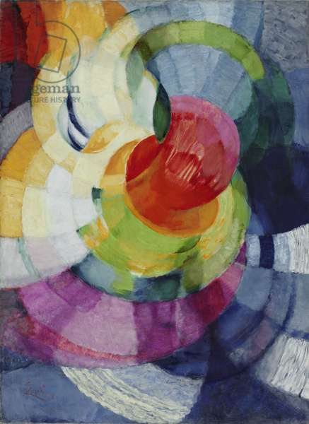 """Disks of Newton (Study for """"Fugue in Two Colors"""") 1912 (oil on canvas)"""