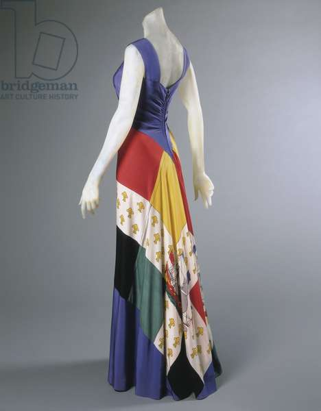 Evening Dress, Summer 1940 (printed silk)