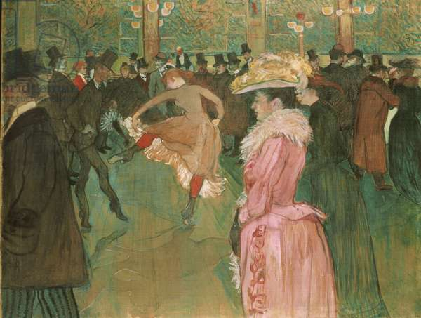 At the Moulin Rouge: The Dance, 1890 (oil on canvas)