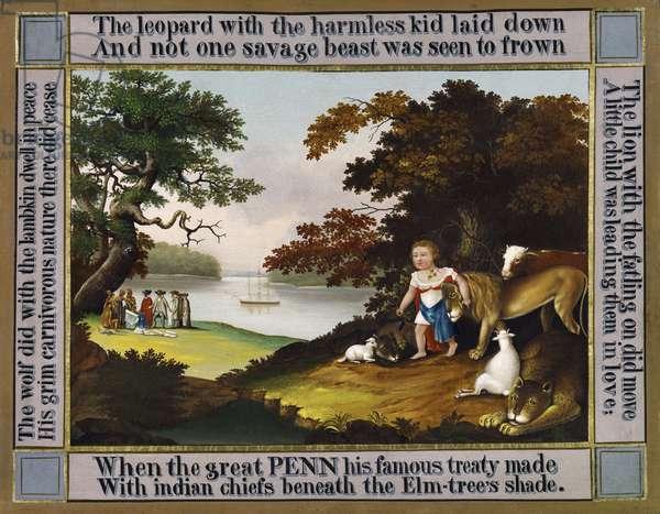 Penn's Treaty with the Indians (oil on canvas)