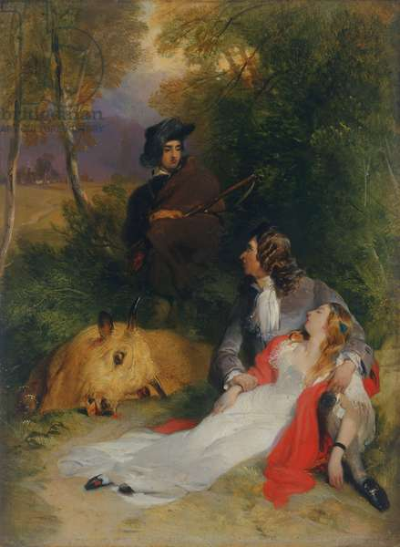 The Bride of Lammermoor, before 1830 (oil on panel)