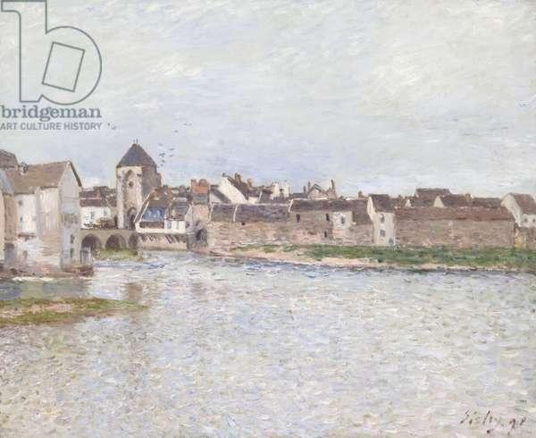 Bridge at Moret-sur-Loing, 1891 (oil on canvas)