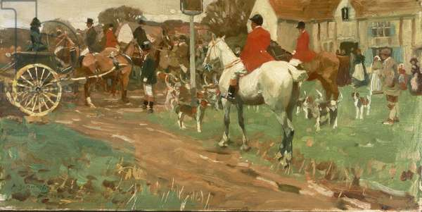The Meet, 1902 (oil on canvas)