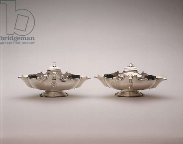 Pair of Sauceboats, 1726-30 (silver)