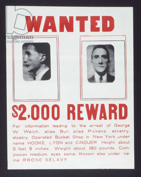 'Wanted Poster', Box in a Valise (Boîte-en-Valise) from or by Marcel Duchamp or Rrose Sélavy (de ou par Marcel Duchamp ou Rrose Sélavy)