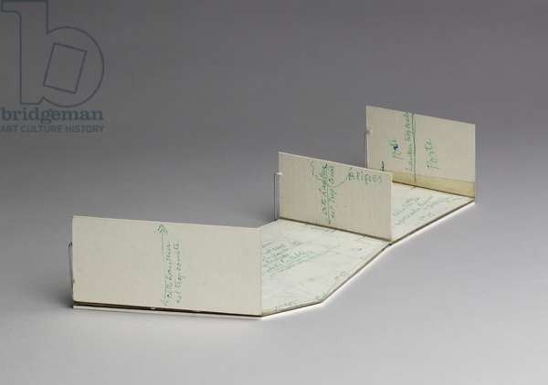 Fold-out Model from the Manual of Instructions for the Assembly of Etant Donnes, 1966 (cardboard)