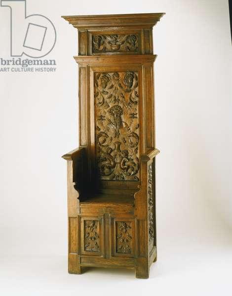 High-Backed Armchair, c.1525-50 (oak)