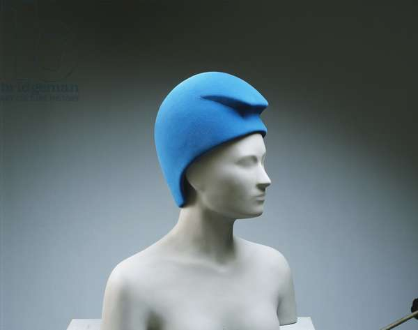 Woman's Hat, c.1968 (blue wool felt)