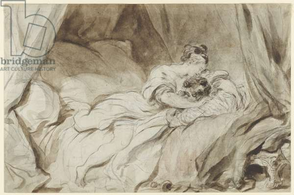 The Useless Resistance, c.1770-73 (ink with wash & white white heightening over black chalk on paper)